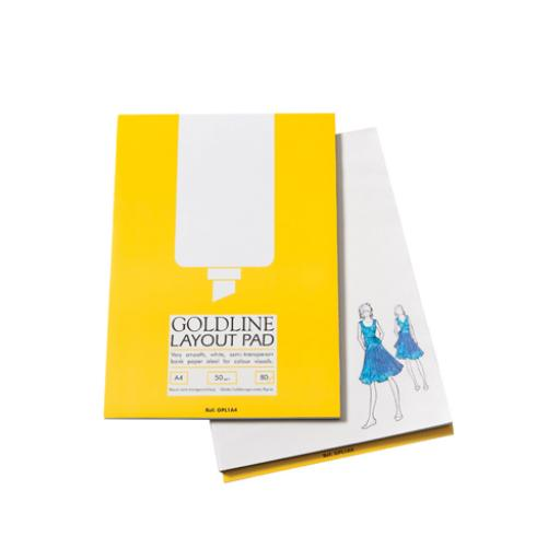Goldline A4 White Layout Pad GPL1A4