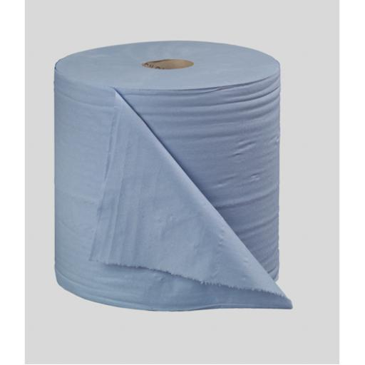 2Work Blue Bumper 2-Ply Paper Roll 270mmx400m (Pack of 2) B2B340