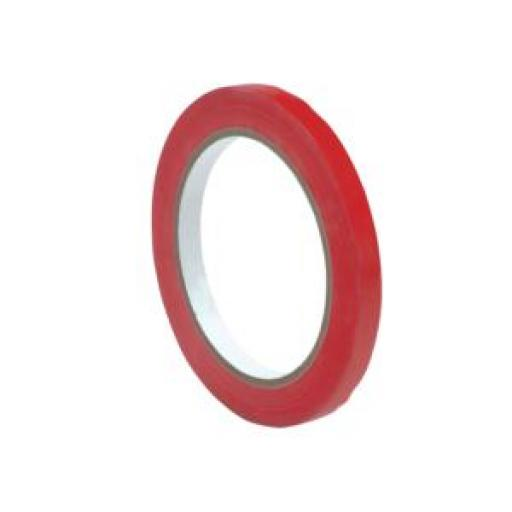 Bag Sealer Vinyl Tape (9mm x 66m) Red Pack of 6