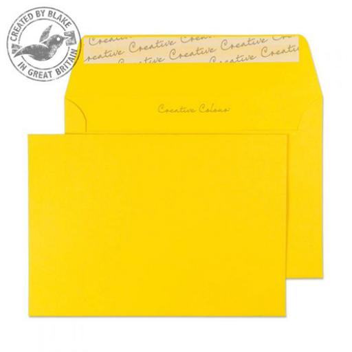 Blake Creative Colour C6 Wallet Peel & Seal 120gsm Egg Yellow Ref 104 [Pack 500]