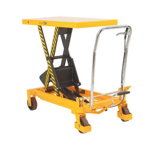 Yellow and Black Mobile Lifting Table 300kg Capacity 329456